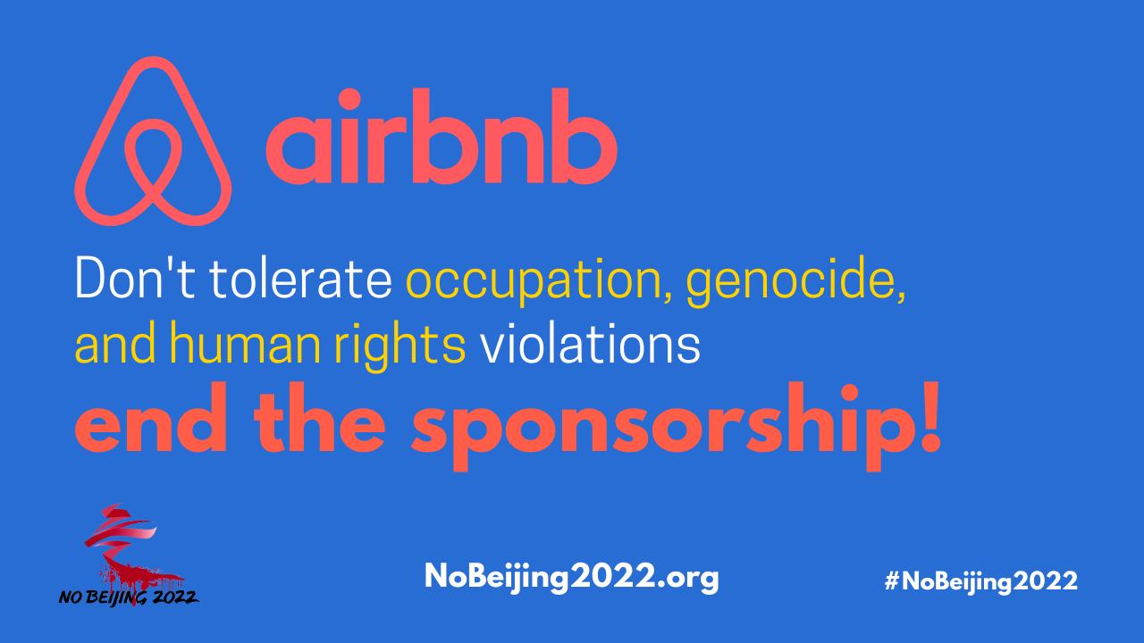 Airbnb Stop sponsorship