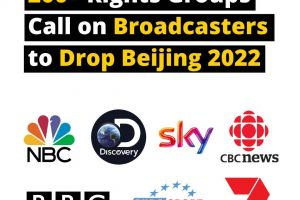 ACTIVISTS TURN SIGHTS TO OLYMPIC BROADCASTERS IN PROTEST OVER PLAN TO AIR BEIJING 2022 OLYMPICS – CHINA'S 'GENOCIDE GAMES'